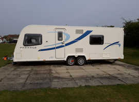 Bailey Pegasus Bologna 2012. Fix bed. Many extras. Two awnings. So spacious!