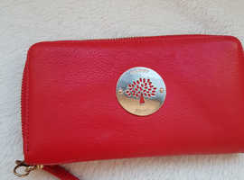 Designer inspired Mulberry Red large purse