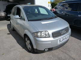 Audi A2, 2004 (04) Silver Hatchback, Manual Petrol, 100,918 miles spares or repair