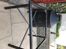 Brown Rattan Table Frame