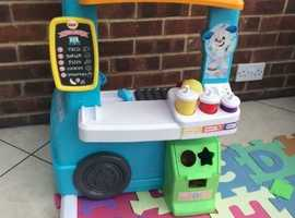 Fisher price laugh and learn serving up fun food truck RPP £65.99