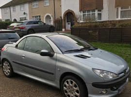 Peugeot 206, 2002 (52) Silver Coupe, Manual Petrol, 81,000 miles