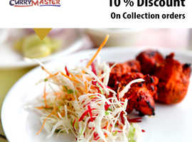 10% Discount On Collection Orders | Curry Master