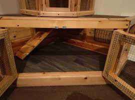 Hand built indoor/outdoor 2 Tier hutch