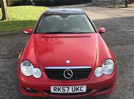 Mercedes C CLASS, 2007 (57) Red Coupe, Manual Diesel, 19,000 miles