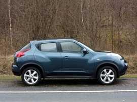 Nissan Juke, 2012 (62) Blue Hatchback, Manual Petrol, 67,000 miles, 01443 831670