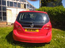 Vauxhall Meriva, 2011 (11) red mpv, Manual Petrol, 51,000 miles