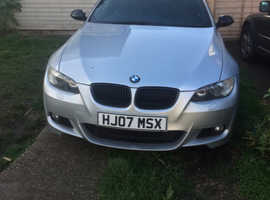 BMW 3 Series, 2007 (07) silver coupe, Manual Petrol, 121,000 miles