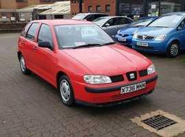Seat Ibiza, 2000 (X) Red Hatchback, Manual Petrol, 107,120 miles