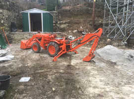 Kubota tractor with back hoe and loader