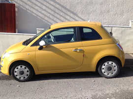 Fiat 500, 2013 (13) Yellow Hatchback, Manual Petrol, 39,000 miles