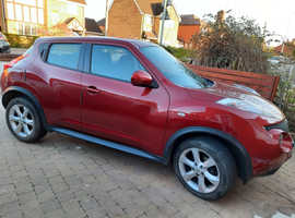 Nissan Juke, 2012 (12) Red Hatchback, Manual Petrol, 70,000 miles