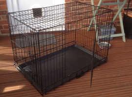 Large Dog Cage in black