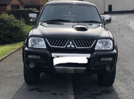 Mitsubishi L200, 2005 (54) Black 4x4, Manual Diesel, 113,500 miles