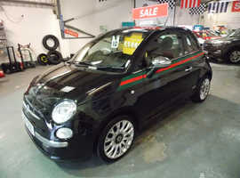 2012/12 Fiat 500 1.2 By Gucci finished in Phantom Black Metallic.57,560 miles