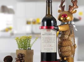Christmas Elk Wine Rack Animal Wine Holder Cork Container