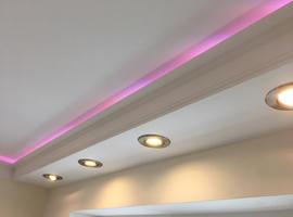Lightweight COVING LED Lighting Polystyrene CORNICE MOLDINGS Home Decor, DIY 3D Panels Exterior Mouldings www.14th.eu