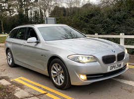 BMW 5 Series, 2011 (11) Silver Estate, Automatic Diesel, 150,000 miles