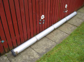 (VAN PIPE CARRIER 10ft LONG) ALLOY COMES WITH BRACKETS, BOLTS AND PADLOCK WITH KEY BARGAIN £40