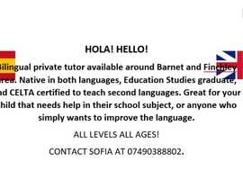 Hola! Hello! Private tutor available, Barnet and Finchley areas.