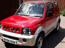 Suzuki Jimny, 2004 (04) Red Convertible, Manual Petrol, 41,136 miles
