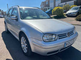 Volkswagen Golf, 2003 (53) silver estate, Manual Diesel, 93,850 miles