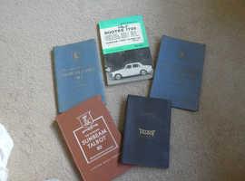 SUNBEAM TALBOT OWNERS HANDBOOK's TOTAL OF 5 BOOKS