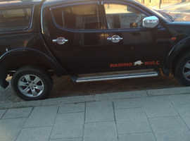 Mitsubishi L200, 2009 (59) Black 4x4, Manual Diesel, 81,000 miles
