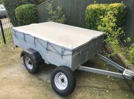 Caddy 6x4 trailer + spare wheel/cover
