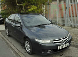 Honda Accord, 2008 (57) Silver Saloon, Manual Petrol, 207600 miles