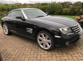 Low mileage 2 owner Chrysler Crossfire 3.2 litre V6 sports car, 2006 Black Coupe, Manual Petrol, 85,620 miles miles