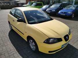 Seat Ibiza, 2005 (05) Yellow Hatchback, Manual Petrol, 117,224 miles