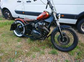 Yamaha XS650 840cc chop chopper old school 1977 Bobber