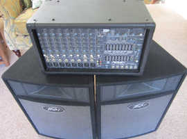 Complete Peavey PA system for sale.