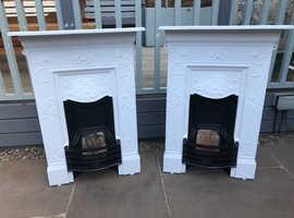 X2 cast iron bedroom Fireplaces