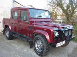 Land Rover DEFENDER 110 COUNTY TD5, 2001 (X) Red metallic 4x4, Manual Diesel, Double Cab 126,000 miles