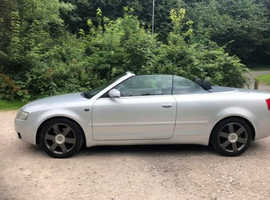 Audi A4, 2004 (54) Silver Convertible, Manual Petrol, 125,000 miles