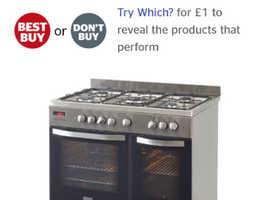 Brand new zanussi range cooker
