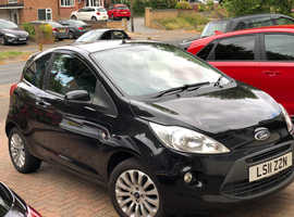 Ford Ka, 2011 (11) Black Hatchback, Manual Petrol, 74,400 miles
