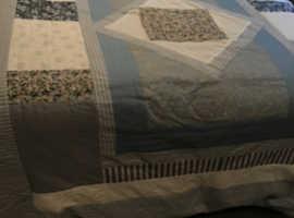Handmade patchwork quilt/throw