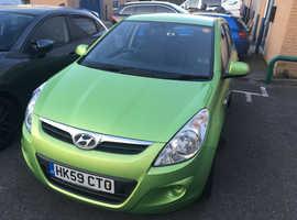 Hyundai i20, 2009 (59) Green Hatchback, Manual Petrol, 95,420 miles