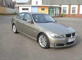 BMW 3 Series, 2010 (10) Gold saloon, Manual Petrol, 55000 miles