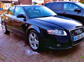 Audi A4, 2005 (05) Black Saloon, Manual Diesel, 111,000 miles