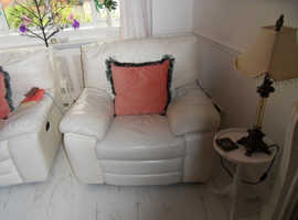 Corner Sofa and Chair Power Recliner on Three Units