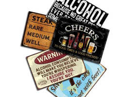 Beer Signs for the man cave/home bar - many designs available