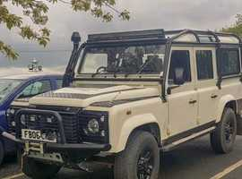 Land Rover DEFENDER 110, 2006 (06) White 4x4, Manual Diesel, 45,000 miles