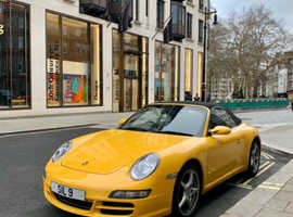 Porsche 911, 2007 (07) Yellow Convertible, Manual Petrol, 370,000 miles