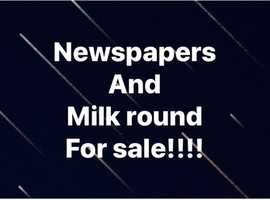 Newspaper and milk round for sale
