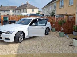 BMW 3 Series, 2014 (64) White Saloon, Automatic Diesel, 57,000 miles