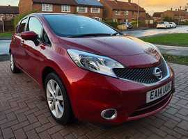 Nissan Note, 2014 (14) Red MPV, Cvt Petrol, LOW 10,164 miles